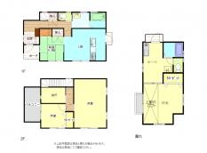 倉敷市茶屋町 3SLDK+離れ(間取り:1K) 1480万円